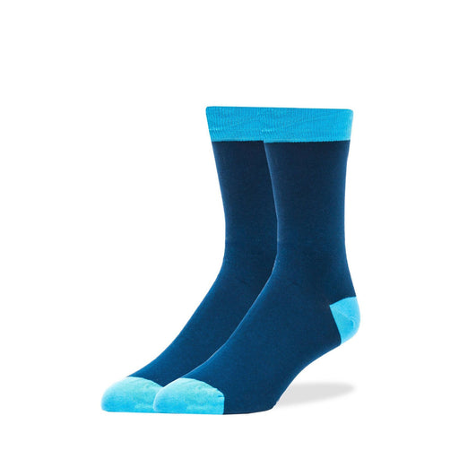 Socks - Solid Blue With Light Blue Trim Socks