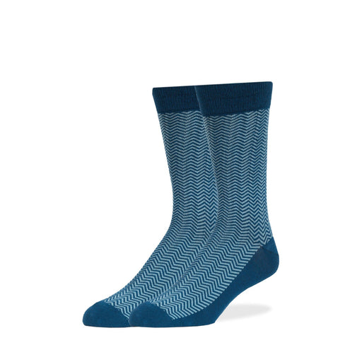 Socks - Teal Herringbone Socks