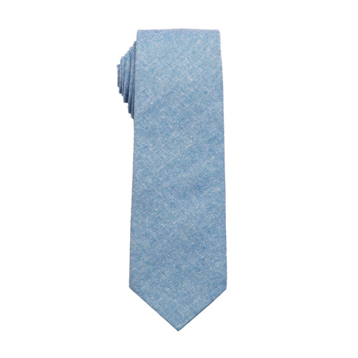 Ties - Blue Chambray Cotton Tie (Wall Street)