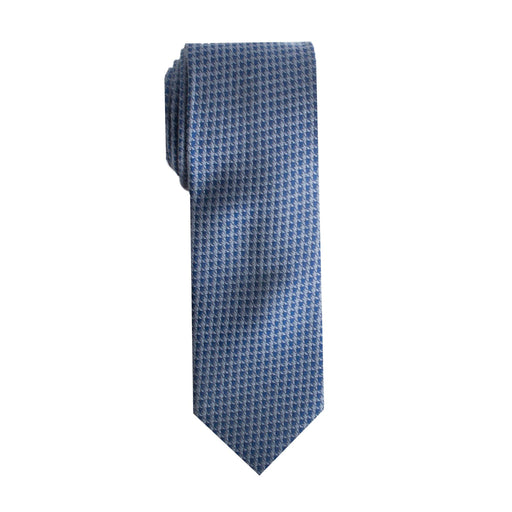 Ties - Blue Houndstooth Tie (Wall Street)