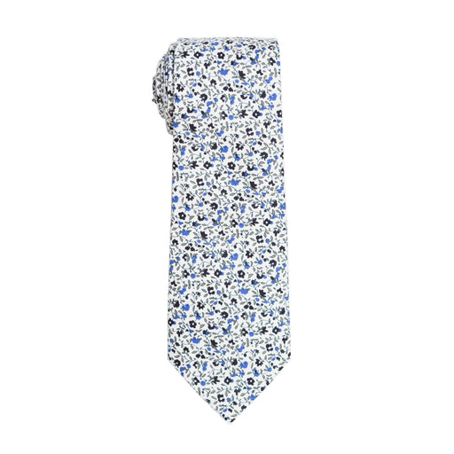 Ties - Blue Micro Floral Cotton Tie
