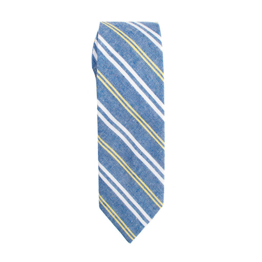Ties - Blue Stripe Linen Tie