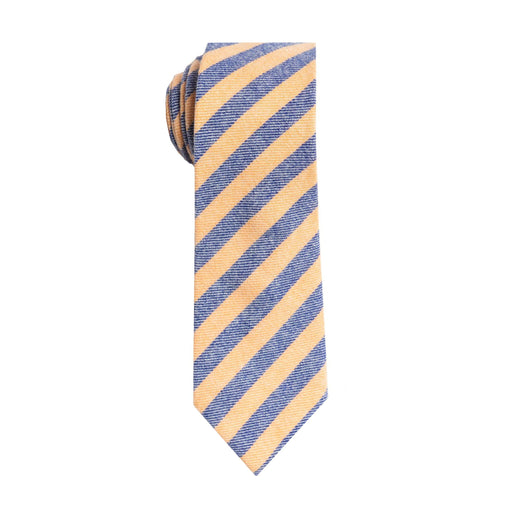 Ties - Blue & Yellow Stripe Tie (Brooklyn)