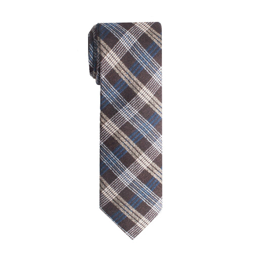 Ties - Brown & Blue Plaid Tie (Brooklyn)