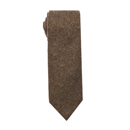 Ties - Brown Herringbone Tie