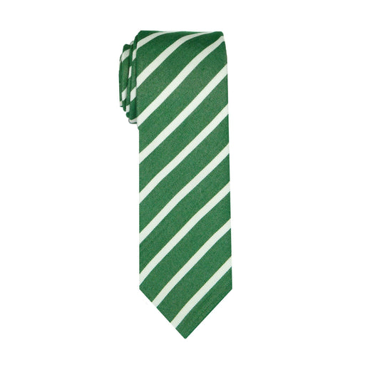 Ties - Green Stripe Cotton Tie (Brooklyn)