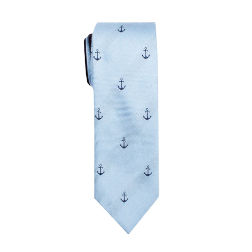 Ties - Light Blue Anchor Tie
