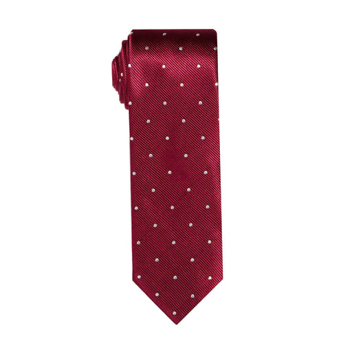 Ties - Maroon Dot Silk Tie (Wall Street)
