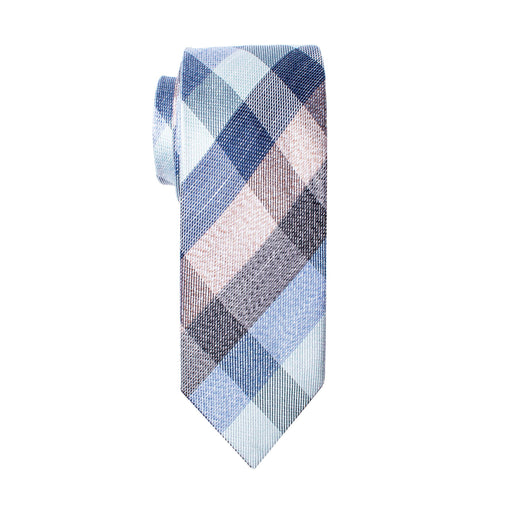Ties - Multi Colored Blue Plaid Tie (Wall Street)