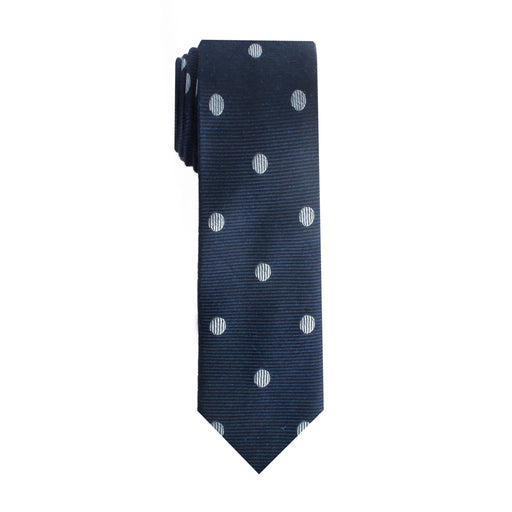 Ties - Navy Dot Tie (Brooklyn)
