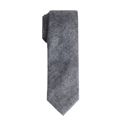 Ties - Navy Herringbone Tie (Brooklyn)