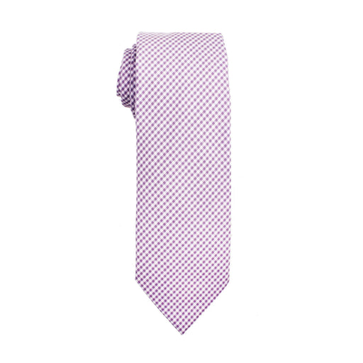 Ties - Purple Micro Gingham Cotton Tie