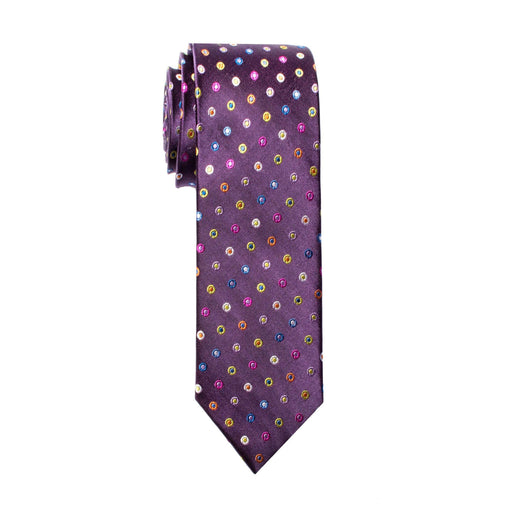 Ties - Purple Rainbow Dot Silk Tie (Brooklyn)