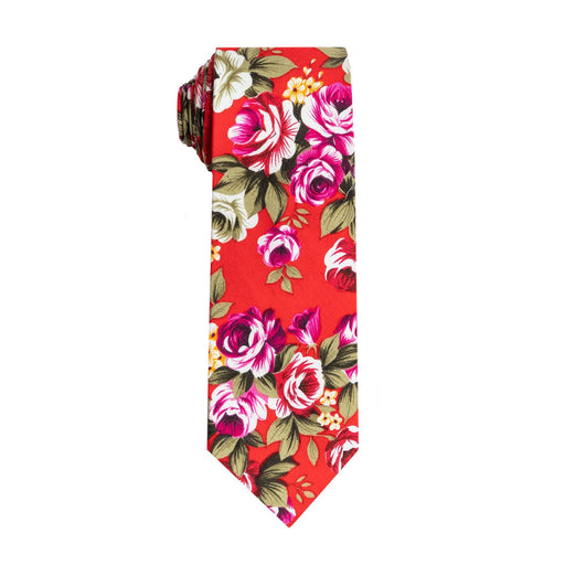 Ties - Red Floral Tie (Brooklyn)