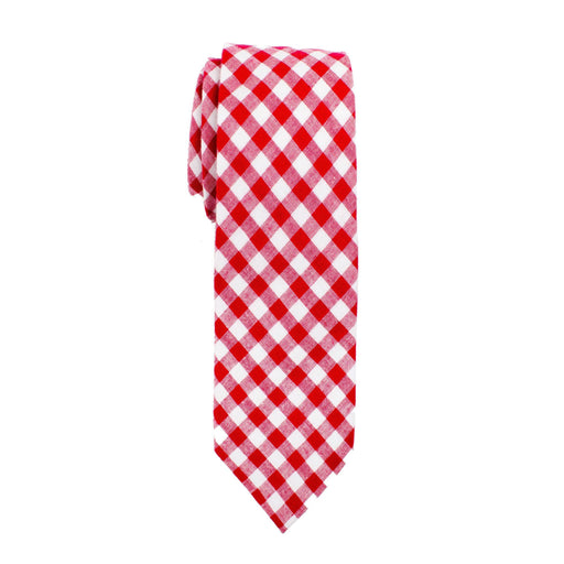 Ties - Red Gingham Cotton Tie