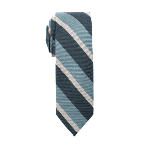 Ties - Teal Stripe Tie (Wall Street)