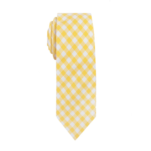 Ties - Yellow Gingham Cotton Tie