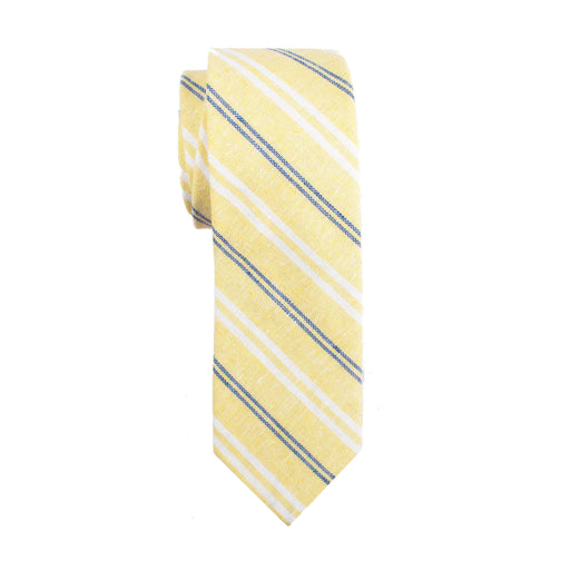 Ties - Yellow Stripe Linen Tie