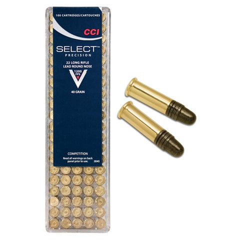 CCI 22LR 40 Grain Select Precision Lead Round Nose
