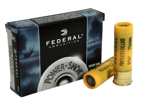 "Federal PowerShok 20ga 2-3/4"" Rifled Slug HP"