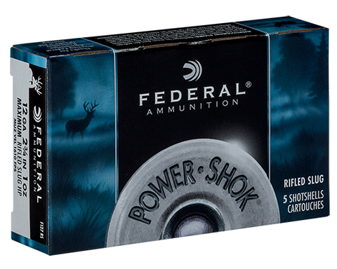 "Federal PowerShok 12ga 2-3/4"" 1 oz. Rifled Slug HP"