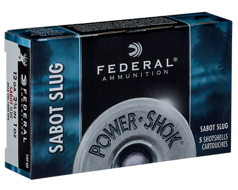 "Federal PowerShok 12ga 2-3/4"" 1 oz. Sabot HP"