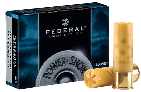 "Federal PowerShok 20ga 2-3/4"" #3 Buck"