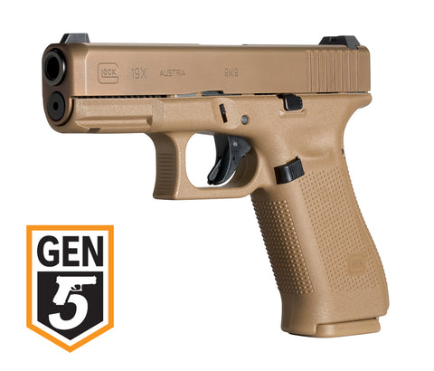 Glock 19X Gen5 9mm w/Night Sights