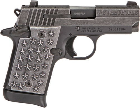 "Sig Sauer P938 9mm ""We the People"" 7-Rd"