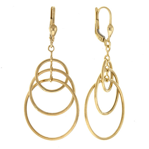 14K Gold Inter-looping Hoop Earrings