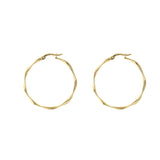 Twisted 14K Gold Hoops