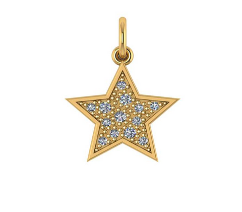 Diamond and Gold Star Pendant