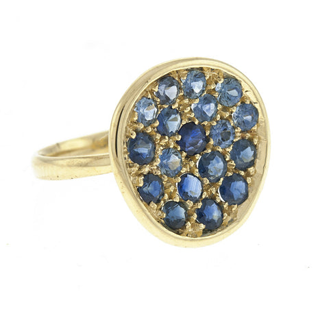 Sapphire and Yellow Gold Cocktail Ring