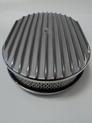 "12"" Full Finned Polished Aluminum Air Cleaner"
