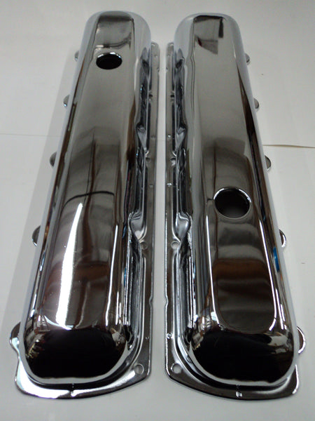 Oldsmobile 330-455 Chrome Steel Valve Covers