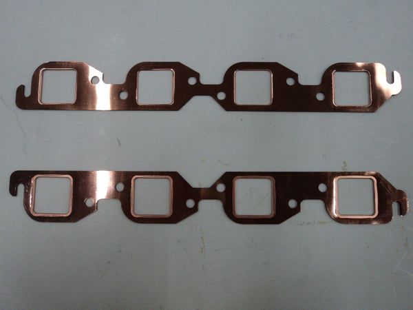 BB Chevy Copper Header Gaskets Square Port