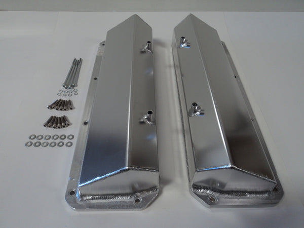 Ford 351C / 400M Fabricated Clear Anodized Aluminum Valve Covers