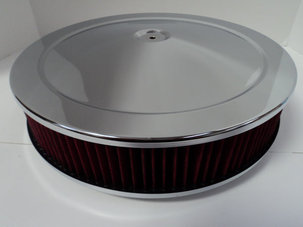 14 X 3 Chrome Air Cleaner Standard Base Washable