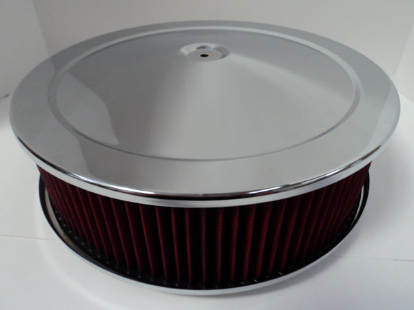 14 X 4 Chrome Air Cleaner Standard Base Washable