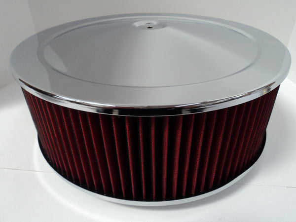 14 X 5 Chrome Air Cleaner Standard Base Washable