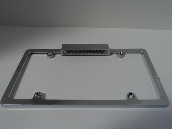 Chrome Aluminum License Plate Frame Wth Light