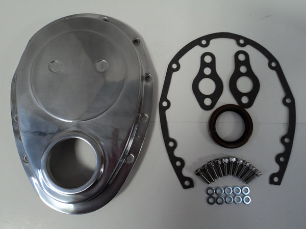 SB Chevy Aluminum Timing Cover Kit