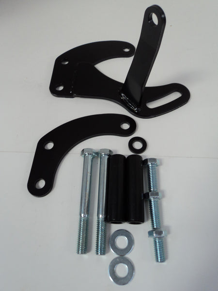 SB Chevy SWP Black Power Steering Pump Bracket
