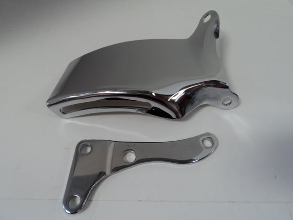 SB Chevy LWP Chrome Alternator Bracket Set
