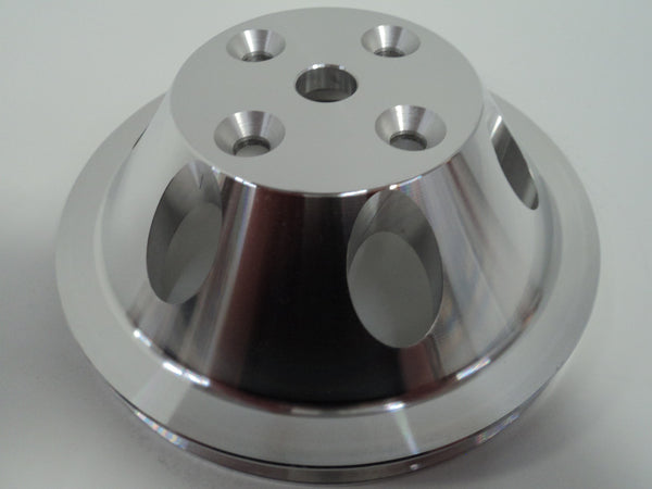 SB Chevy LWP Single Groove Aluminum Water Pump Pulley