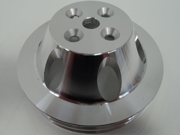 BB Chevy SWP Double Groove Aluminum Water Pump Pulley