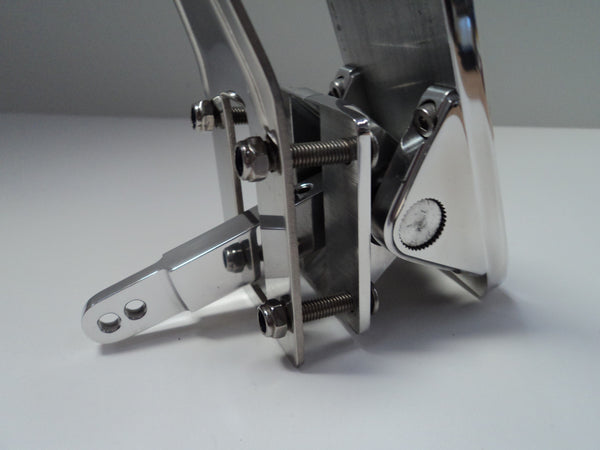 Polished Aluminum Floor Mount Gas Pedal Hot Rod Parts Supply