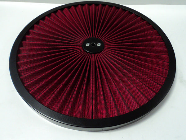 "14"" High Flow Red Air Cleaner Lid"