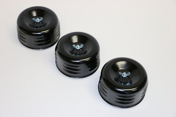 "4"" Louvered Black Air Cleaner (3 Pack of air cleaners)"