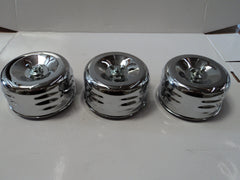 "4"" Louvered Chrome Air Cleaner (3 Pack of air cleaners)"